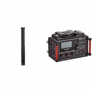 Rode NTG-1 Microphone à Ruban & Tascam DR-60DMKII – Enregistreur stéréo PCM linéaire Portable pour DSLR