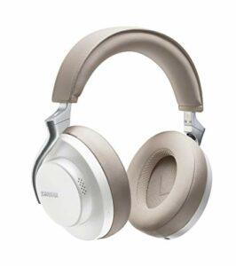 Shure Casque sans Fil Aonic 50 à Réduction de Bruit, son Exceptionnel de Qualité Studio, Bluetooth 5, Maintien sur l'Oreille Sécurisé, Autonomie de 20 Heures, Simple d'Utilisation – Blanc/Tan