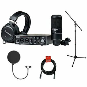 Steinberg UR22C Pack d'enregistrement avec trépied pour micro, filtre Kellopy Pop et câble XLR