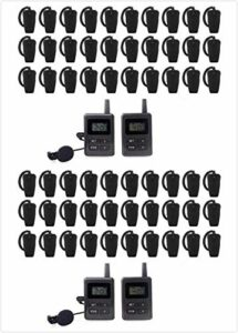 Système de voyage sans fil avec son de haute qualité (4 émetteurs + 60 récepteurs)