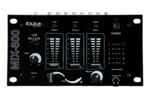 Table de mixage 3 voies 5 entrées IBIZA MIX-800