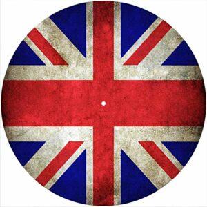 Tapis de feutrine à gratter en feutre pour tout tourne-disque vinyle 30,5 cm LP DJ Motif drapeau britannique