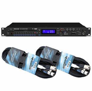 Tascam CD-400U DAB Lecteur multimédia + câble Keepdrum 2 XLR 6 m
