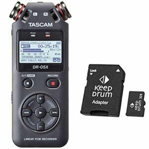 Tascam DR-05X Enregistreur audio + carte mémoire micro SDHC Keepdrum 32 Go