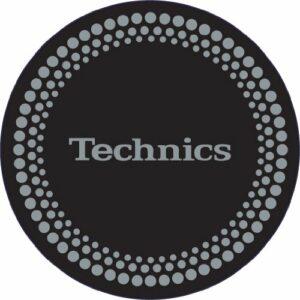 Technics DMC 1 paire de disques de feutrine pour tourne-disques Noir/Argent