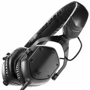 V-MODA XS Casque Audio Supra-Aural, Filaire, Pliable et Lèger avec Microphone- Noir Mat
