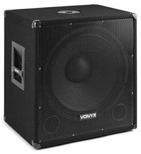 Vonyx SMWBA18MP3 Subwoofer bi-amplification 18» 1000 W • Sorties amplifiées • Puissance de 1 000 watts • Technologie sans fil Bluetooth