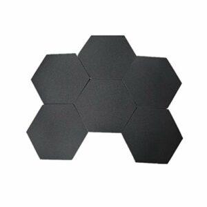 WYFDC 6 Pcs Panneaux Acoustiques Panneaux De Traitement Acoustique Panneaux De Polyester Écologique Panneaux Acoustiques De Mur Acoustique (Color : Black)