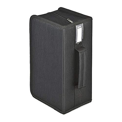 Yaunli Boîte de rangement pour CD Boîte de rangement pour CD Capacité 160 CD Portable Boîte de rangement pour CD (Couleur : Noir, Taille : 28,5 x 16 x 12,5 cm)