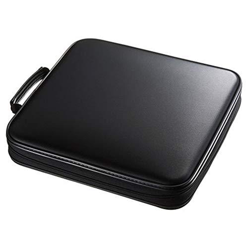 Yaunli Boîte de rangement pour CD Capacité 160 CD Boîte de rangement compacte et facile à ranger pour la maison de voiture Étui de transport (couleur : noir, taille : 30 x 28 x 6,8 cm)