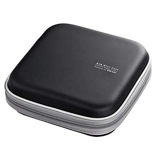 Yaunli Boîte de rangement pour CD et CD – Organiseur de bureau – Peut contenir jusqu'à 36 CD – Pour voiture, maison – Couleur : noir, taille : 17 x 17 x 6,3 cm