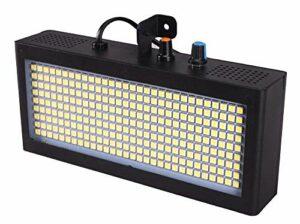 YXB (Lot de 2) LED Atomic Strobe Flash Super Bright Clignotant 32pcs LED Blanc Lumières de jeu pour discothèque, salle de bal, karaoké, DJ, club, fête de musique, mi.