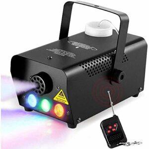 YXB Machine à Brouillard, Lampe à LED portative de Capot de Machine à fumée avec télécommande Filaire et sans Fil, Chauffage Rapide, Convient pour Les fêtes, Noël, Halloween et Mariage