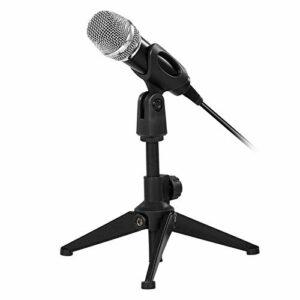Zengqhui Microphone USB câblé Microphone Microphone Microphone kit karaoké Voix Microphone avec Support Applicable à Plusieurs Scénarios (Couleur : Black, Size : One Size)