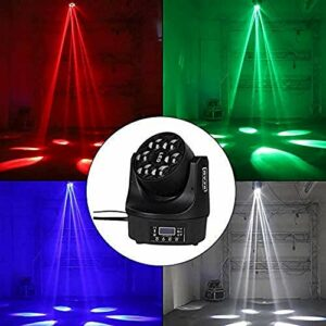 ZhanMa Éclairage de scène- Disco Lights Ball, Party lumières de la scène, coloré vocale Projecteur à tête Mobile, contrôleur DMX512, 100 W, idéal for Le Mariage karaoké Bar