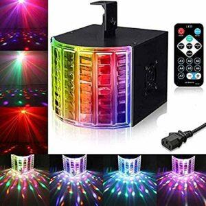 ZhanMa Éclairage de scène- DJ Lumières, Party Lights DMX512 Son ACTIVÉE scène Disco Lights lumières avec télécommande for DJ Party/discothèque/Mariage/Club/Pub/Evénement/Bar 18W
