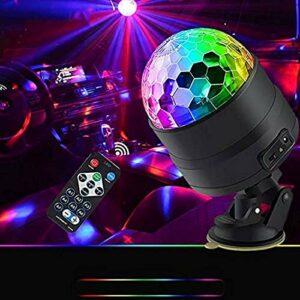 ZhanMa Éclairage de scène- Portable USB Festival de Commande vocale avec Rechargeable Télécommande Bar Club DJ Party lumières lumières de la scène