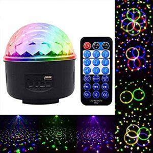 ZhanMa Éclairage de scène- Projecteur de lumière Rotatif Nuit RGB Effet d'éclairage de scène Musique légère fête de Noël KTV 11:30