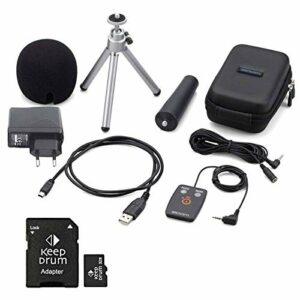 Zoom Aph-2n Kit d'accessoires pour H2n + Carte mémoire SDHC Keepdrum 32 Go