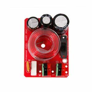 2 pcs audio haut-parleur médiante crossover 80w 4-8Ohm séparateur de fréquence de milieu de milieu de médiante de fréquence réglable de fréquence de voiture de voiture DIY ( Couleur : Without line )