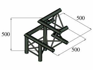 Alutruss Angle A Gauche 3 Voies pour Treillis Truss Americana S-PAL-32