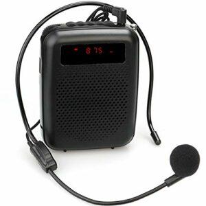 Amplificateur Vocal Portable avec Microphone, amplificateur Vocal pour Les Enseignants, système d'entraînement pour enseignement,A