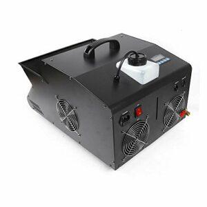Aohuada Machine à bulles 3000 W + télécommande radio DMX 512 9 LED – Machine à bulles – Télécommande sans fil – Éjection de brouillard – Contrôle DMX 3 en 1 – LED RVB