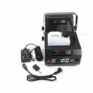 Aohuada Machine à fumée DMX 1500 W – Machine à fumée professionnelle et portable – Avec télécommande