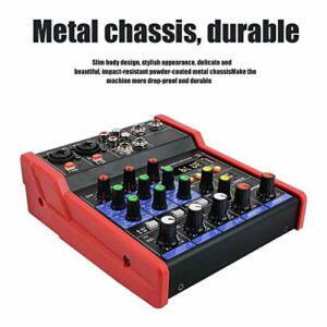 APROTII Mini mixeur portable USB 4 canaux Bluetooth MP3 Live Studio Audio DJ Sound Mixer USB 5 V