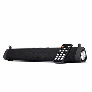 Barre de son Barre de son TV avec câble E sans fil 16 W Bluetooth 5.0 Enceinte portable en plein air de bureau Echo Wall Audio Subwoofer pour jeux, PC et TV