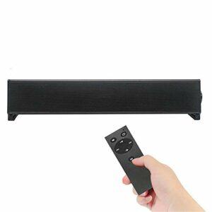 Barre de son haut-parleur sans fil Bluetooth Home TV Haut-parleur ordinateur Super Bass Audio Contrôle à distance Barre de son pour jeux, PC et TV