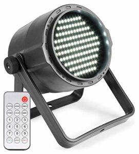 Beamz PLS15 Stroboscope – 120 x LEDs blanches SMD 3528, 2 canaux DMX, Mode audio ou automatique, Fonction Master/Slave, Télécommande infrarouge, Charge via micro USB
