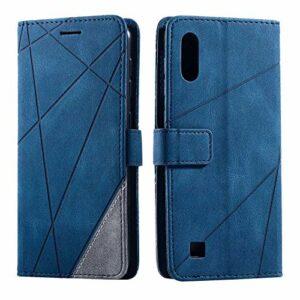 Bear Village Coque Galaxy M10 / Galaxy A10, Anti Rayures Housse avec Slots pour ID et Cartes, Étui en PU Cuir Portefeuille Coque pour Samsung Galaxy M10 / Galaxy A10, Bleu