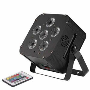Bedler 108W LED RGBWAP 6/10 Canal par Lumière Build-in Wireless DMX Receiver Batterie Rechargeable étape Lampe avec Support Télécommande Son Activation pour Bar DJ Party KTV DMX Receiver