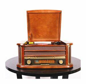 Blu-ray HX Classic Retro LP vinyle Gramophone phonographes Bluetooth Turntable Lecteur CD 220v Radio Retro FM haute définition