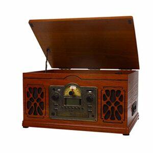 Blu-ray Retro Vinyl Record Lecteur audio CD Tape Bluetooth démodées Vintage phonographe Platines haute définition