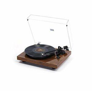 Blu-ray Turntable LP vinyle Gramophone Enregistrement Bluetooth Lecteur Vinyle Métal haute définition (Color : Black)