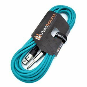 Câble XLR femelle à jack mono 6,35mm 1/4″ / Microphone/Câble de signal / 6 couleurs 6m Vert