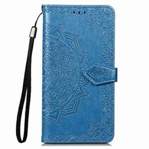 Coque pour Galaxy A20 / A30 Coque,Housse en Cuir Flip Case Portefeuille Etui avec Stand Support et Carte Slot pour Samsung Galaxy A20/A30 – EYSD010194 Bleu