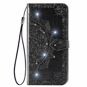 Coque pour Galaxy A20e / A10e Protection Housse en Cuir PU Pochette,[Emplacements Cartes],[Fonction Support],[Languette Magnétique] pour Samsung Galaxy A20e/A10e – DESD030199 Noir