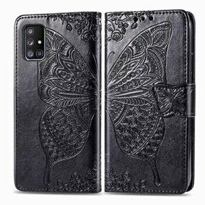 Coque pour Galaxy A71 5G Antichoc étui Rabat Cuir Case Portefeuille FineTPU Gel Bumper Slim Silicone Wallet Cover Aimant Housse pour Samsung Galaxy A71 5G – ZISD021586 Noir
