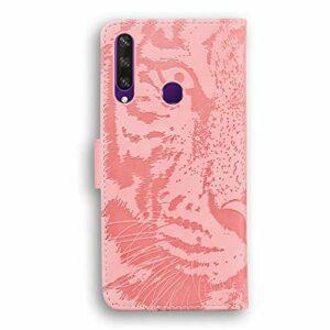 Coque pour Huawei Y6p Antichoc étui Rabat Cuir Case Portefeuille TPU Gel Bumper Silicone Wallet Cover Aimant Housse pour Huawei Y6p – ZITX010487 Rose