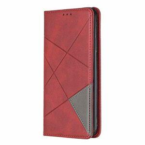 Coque pour Samsung Galaxy S30 – Antichoc – En cuir synthétique – Fermeture magnétique – Coque de protection pour Samsung Galaxy S30 – Rouge