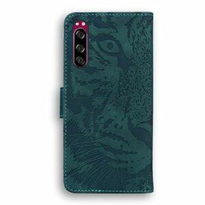 Coque pour Sony Xperia 5 Antichoc étui Rabat Cuir Case Portefeuille TPU Gel Bumper Silicone Wallet Cover Aimant Housse pour Sony Xperia 5 – ZITX010651 Vert