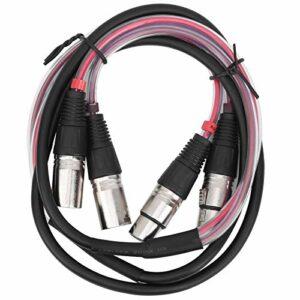Dilwe Câble Audio 2 canaux, câble XLR symétrique Câble Audio multicanal adapté aux Microphones, mixeurs, Cartes Son Audio et Autres équipements(1.5m)