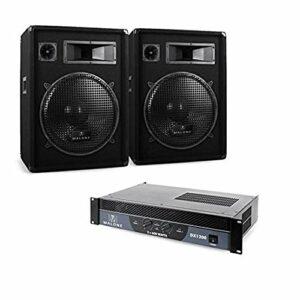 DJ PA Set Malone 2.0″Boom» ampli enceintes câble 1200W