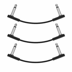 Donner Câble Patch Jack-Jack Mono 15cm/30cm pour Pédales d'effet (set de 3, 15 cm)