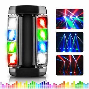 Éclairage scénique, Éclairage de scène LED AGPtEK RGBW 4-en-1 Lampes LED à tête mobile, Compatible DMX-512 avec 4 modes de contrôle pour les fêtes, concerts, spectacles, clubs, bars et mariages