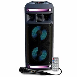 Enceinte Autonome – Pickering FX62-300W – USB SD Bluetooth – 2x Boomer 16cm à LED RVB