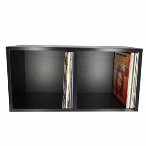 ENOVA VINYLE BOX 240BL – meuble noir pour 240 vinyles